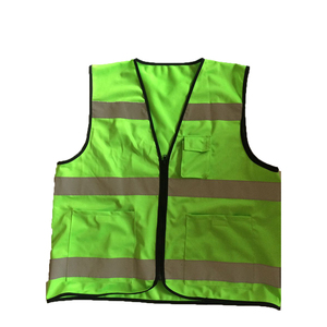 high visibility pocket factory wholesale green safety vest for outdoor safety