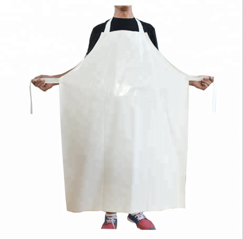 OEM logo virgin polyurethane  PU leather apron  for meat fish food factory
