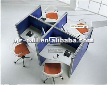 4 seats office partition call center wall partition for modular furniture tld72