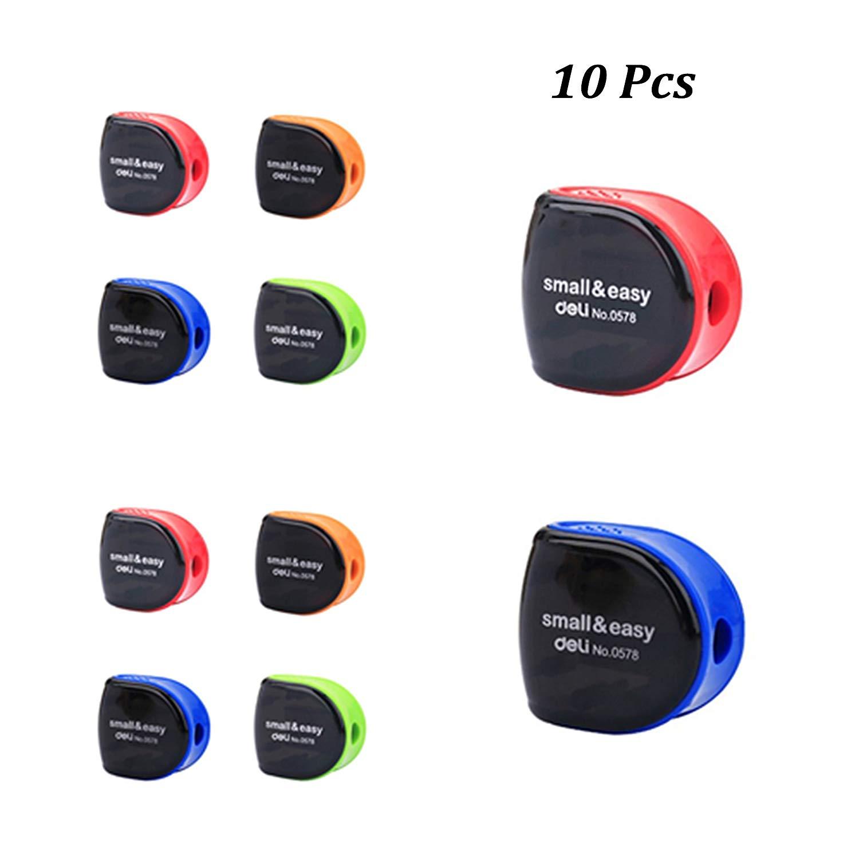 Small Pencil Sharpner,Manual Carpenter Pencil Sharpner,Cut Sharpners Pencil for Kids and Workers,Plastic,Blue/Red/Green/Orange(Color Random)(10 Pcs)