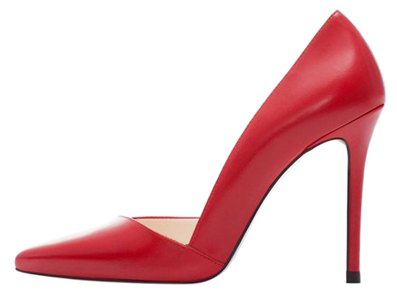 Modern design women's business shoes professional fashion high heel stiletto sandals red pumps
