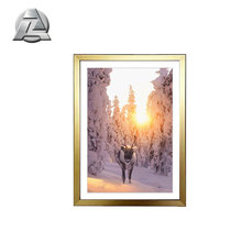 gold gloss 24x36 big aluminum photo frame for photo