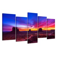 5 Piece Canvas Wall Art Sunrise Picture Canvas Print Beautiful Landscape Wall Art for Home Office Wall Decor