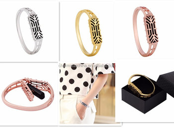 Alloy Bangle Watch Bands For Fitbit Flex 2 New Craft Design