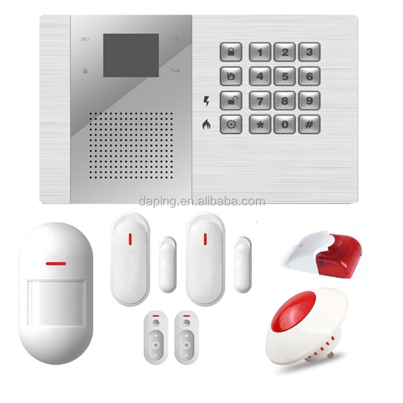 auto recognition Wireless Intruder 2/3/4g gsm intelligent security system