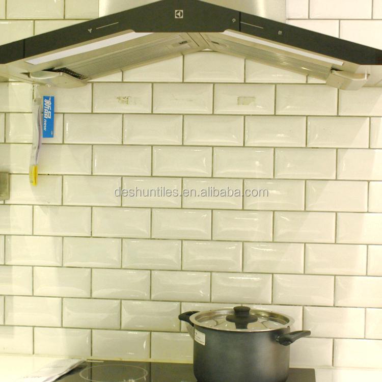 75x152mm keuken muur decoratieve witte keramische tegels-tegels ...