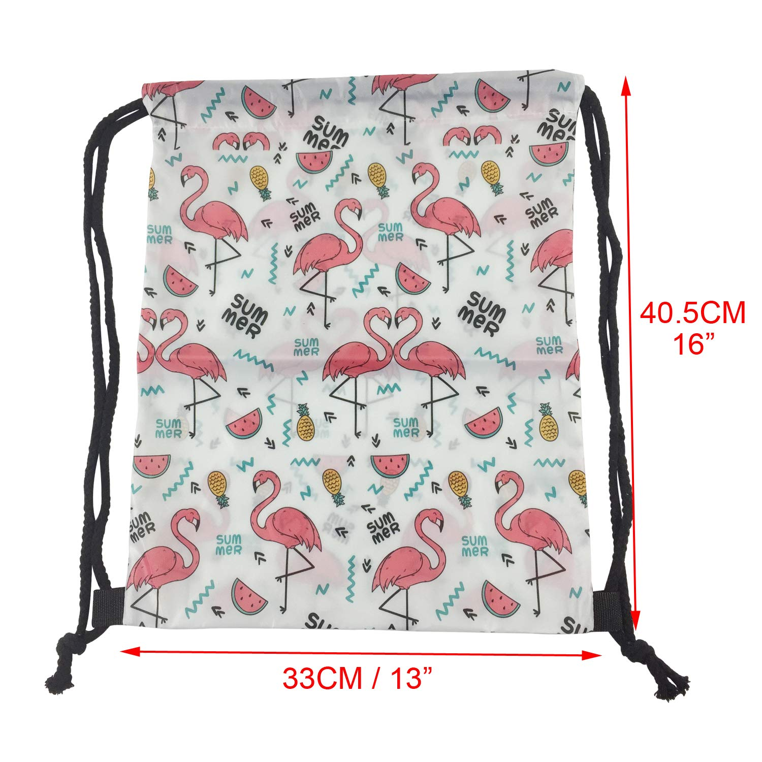 Portable polyester reusable designer waterproof cute Draw String bag for promotional gift