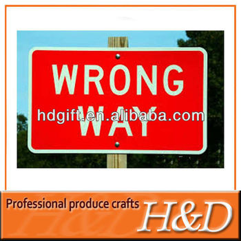 Rectangle Shape Reflective Road Safety Signs