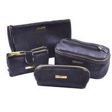 2018 Popular Elegant Luxury Cosmetic Leather Pouch Bag Makeup Bag Sets for Women