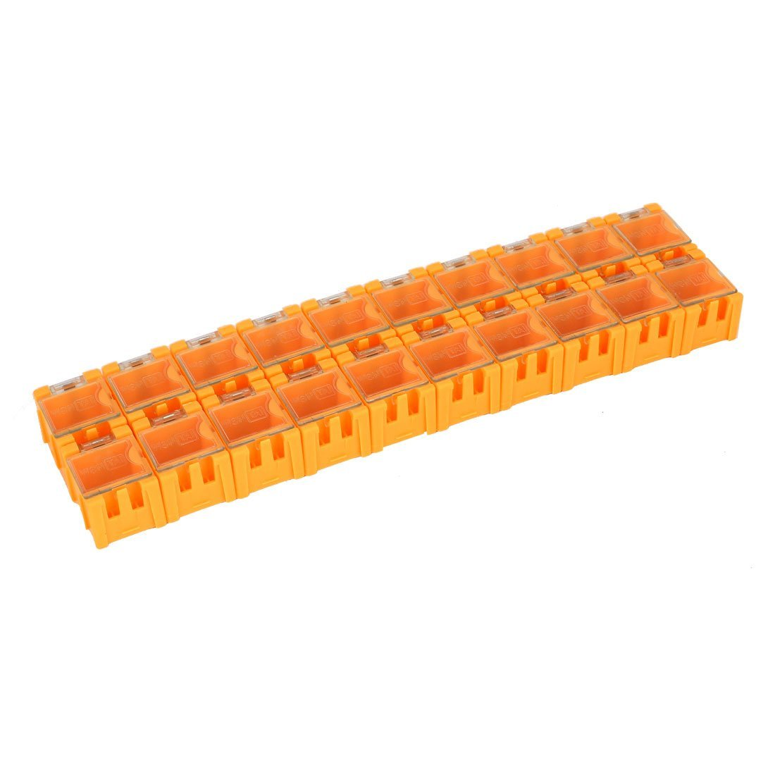Aexit SMT SMD Tool Organizers Electronic Components Storage Box Case Organizer Tool Boxes 20Pcs Orange