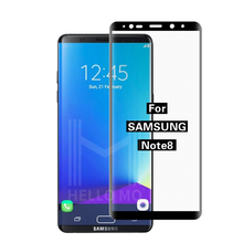 High transparant 0.33mm ultra thin 3d tempered glass screen protector for Samsung Galaxy Note 8