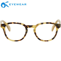 beauty eyewear trendy Italian Style Optical Glasses Made in China Oversize Shape big round eyeglass frames