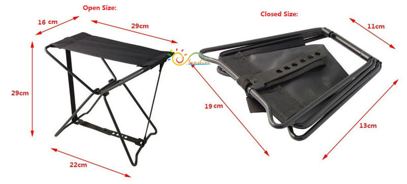 Folding Classical Soft Stool Triangle Fishing Chairs For