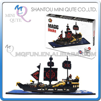 Mini Qute HC Huge Black Pearl pirate ship plastic building block cartoon model action figures education educational toy