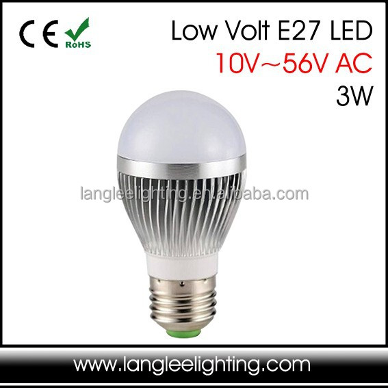 Low Voltage 24v 36v 48v Ac E27 3w 5w 7w Led Light Bulb