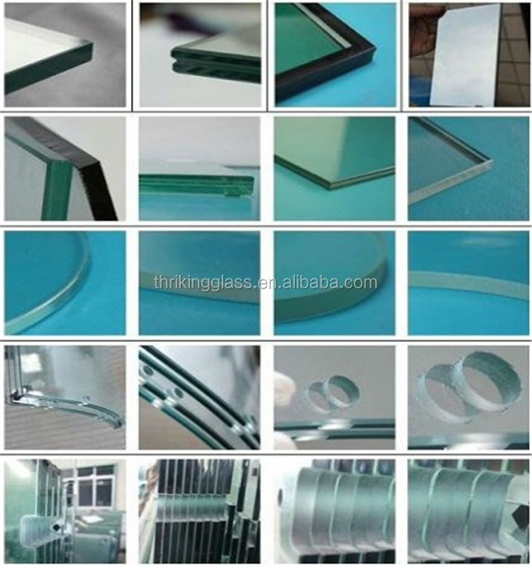 12mm 15mm flat round customized Float Tempered Glass for dining table