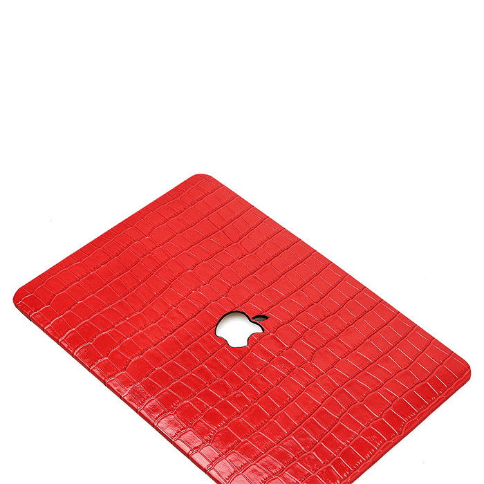 Hot products for Macbook case high quality embossed crocodile  leather laptop case_8