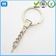 Custom Metal Split KeyChain Key Rings With Chain Screw Wholesale