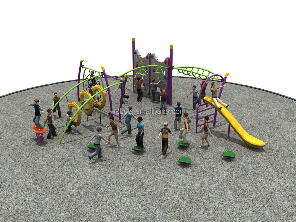 Kids Outdoor Playground Equipment Rock Climbing Wall Climbing Structure