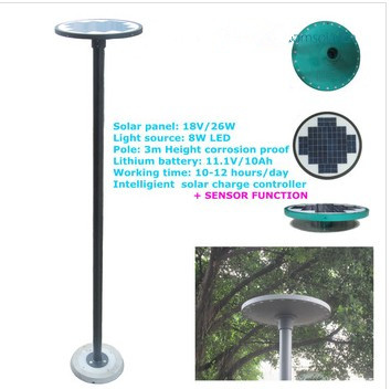 round top outdoor solar garden stick light,solar led lawn lighting