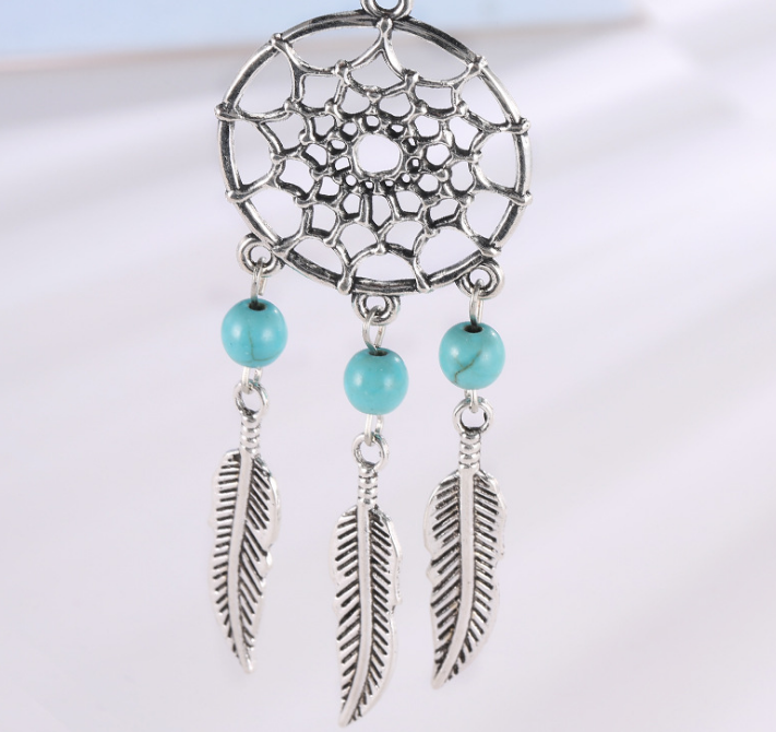 Dream Catcher women Accessory with Leaves Pearl Pendant