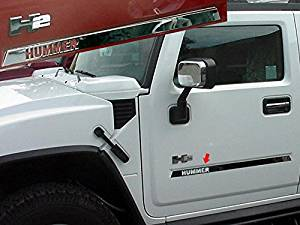 "HUMMER H2 SUV (With ""HUMMER"" logo letters cut out)-Stainless Steel MOLDING INSERT"