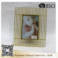 Wholesale 2017 fashion new design OEM custom baby metal photo frame