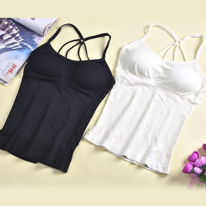 Women Sexy Back Cross Bodyshaper Seamless Comfortable Shoulder Vest Girl Push-up Bra Sets Camisole