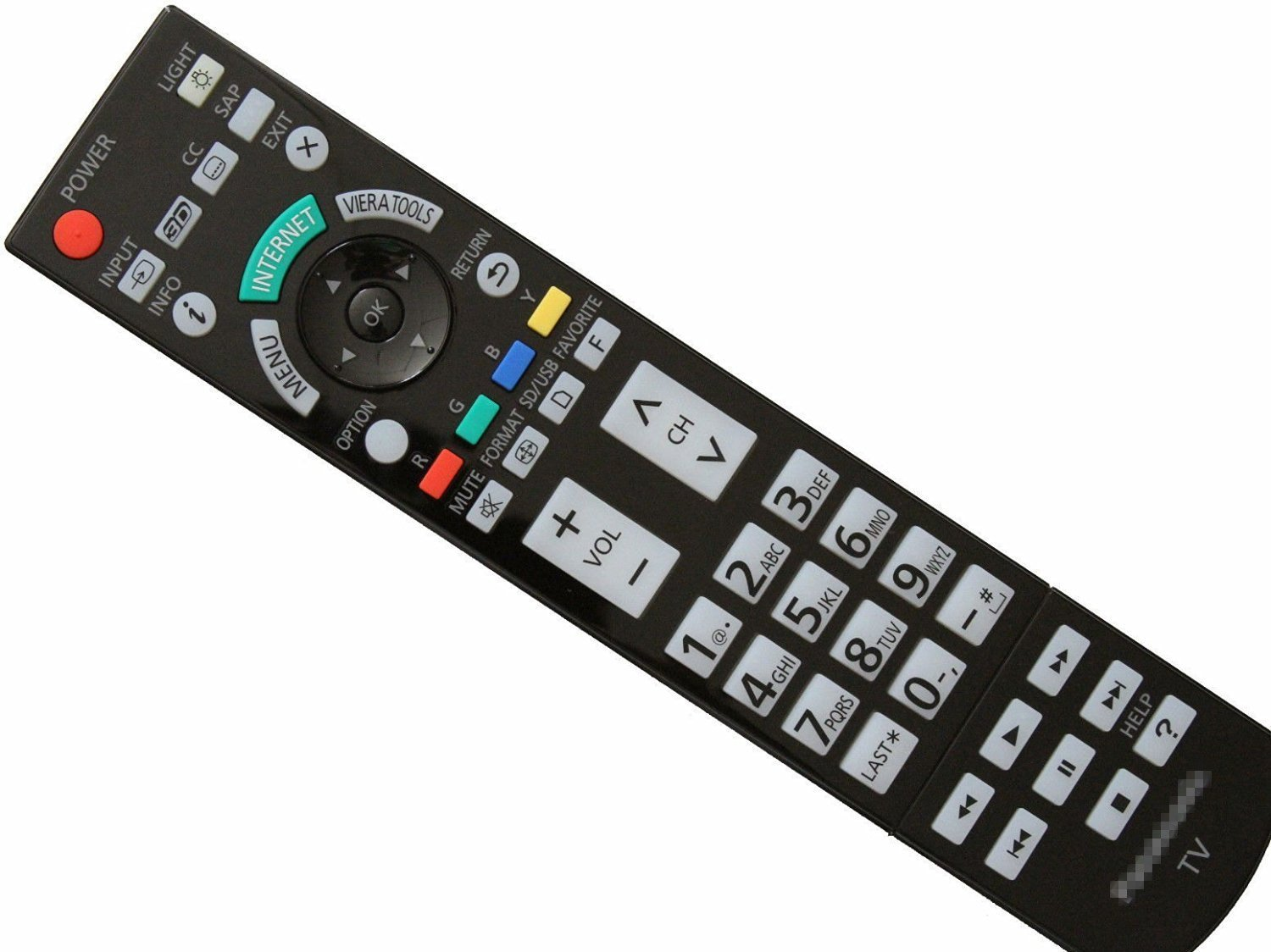 Neohomesales New Panasonic N2QAYB000486 Remote Control for Plasma TV