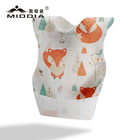 Waterproof Disposable Plain Baby Bibs Plain White With Poly Bag Packaging