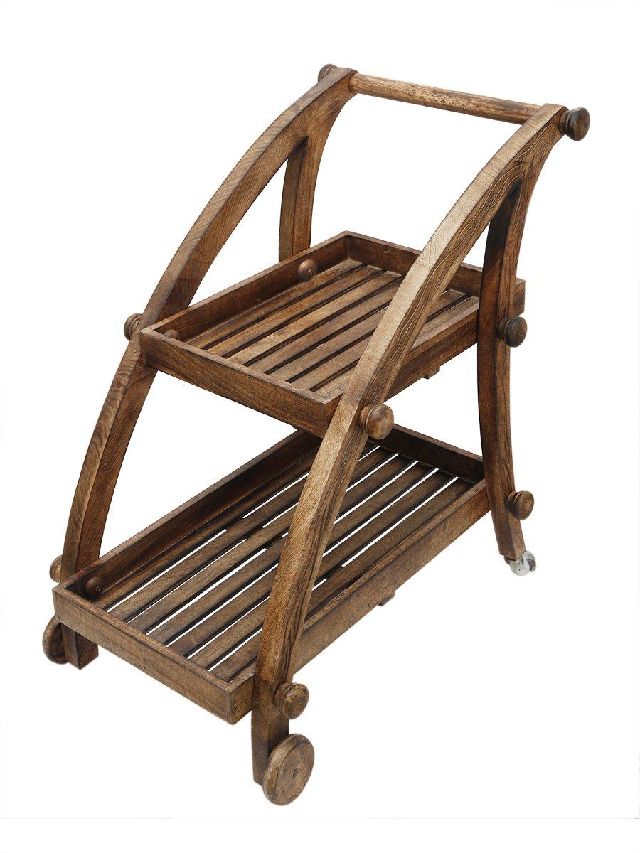 Get Quotations Wine Serving Cart Wooden Trolley Rack Holder Mini Bar Drink Tea Service Carts On Wheels