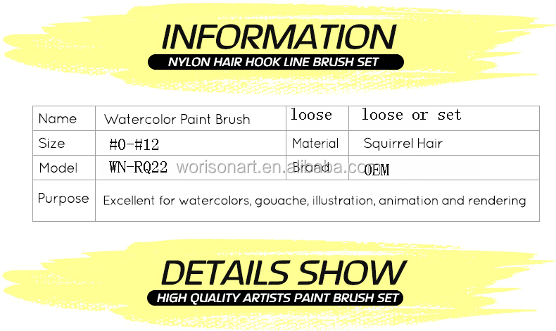 22rq Paint Brushes Art Supplies Squirrel Hair Watercolor Artistic Brush For  Artists Painting Drawing - Buy Artist Brush,Paint Brushes Set,Squirrel