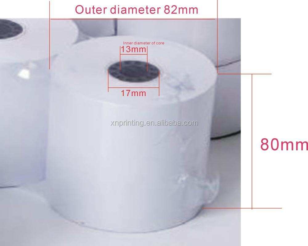 Kundenspezifisches Drucken 80mm vorbedrucktes Thermopapierpapier