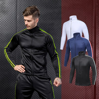 Newest Style Zipper Plus Velvet Sport Coat,Gym Running Wear Men Sport Wear Jacket