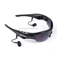 Customized new arrival cool mp3 bluetooth sunglasses