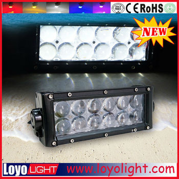 China Supplier 7 Inch Double Row 36w Led Light Bar With 4d ...