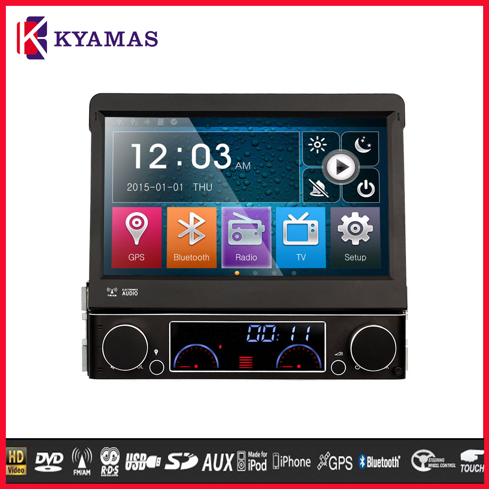 Universal 7 inch 1 din Wince 6.0 Car DVD Player with DVD+GPS+Bluetooth+Radio/RDS+TV+3G+USB/SD+SWC+AUX IN+Games Full Functions
