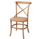 Country Style Rustic Oak Frame Antique Dining Table Chair Retro Stackable Crossback Wooden Chair