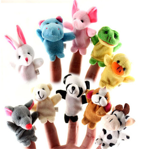 Animal Finger Puppets Plush Toy Tell Story Props Cute Cartoon Dolls Hand Puppet For Kids Children Toys