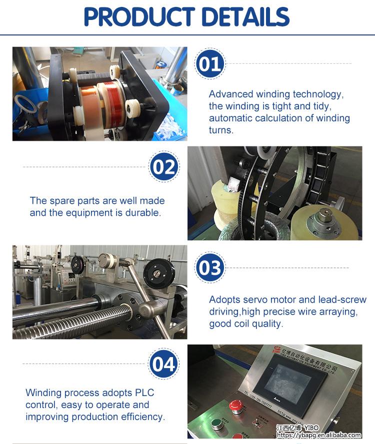 YW-260/300/400/500 Transformator Arus Efisiensi Kualitas Tinggi Inti Toroida CNC Mesin Putar Melingkar