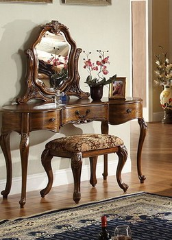 Furniture Alexandria Egypt Home Use Wood Antique Vanity Dresser With Mirror