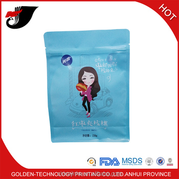 Snack packaging square bottom bag