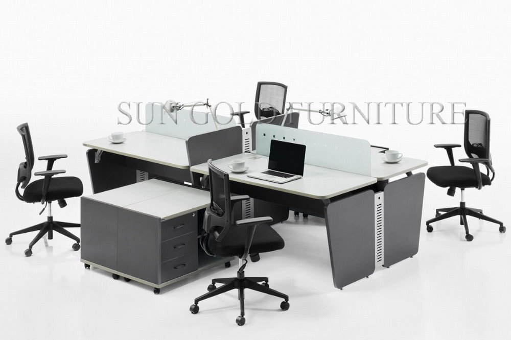 Hot selling nepal office cubicles modular metal frame for Bureau marguerite 4 personnes