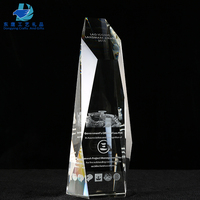 Custom Cheap 3D Laser Engraving Crystal Awards And Trophies Guangzhou
