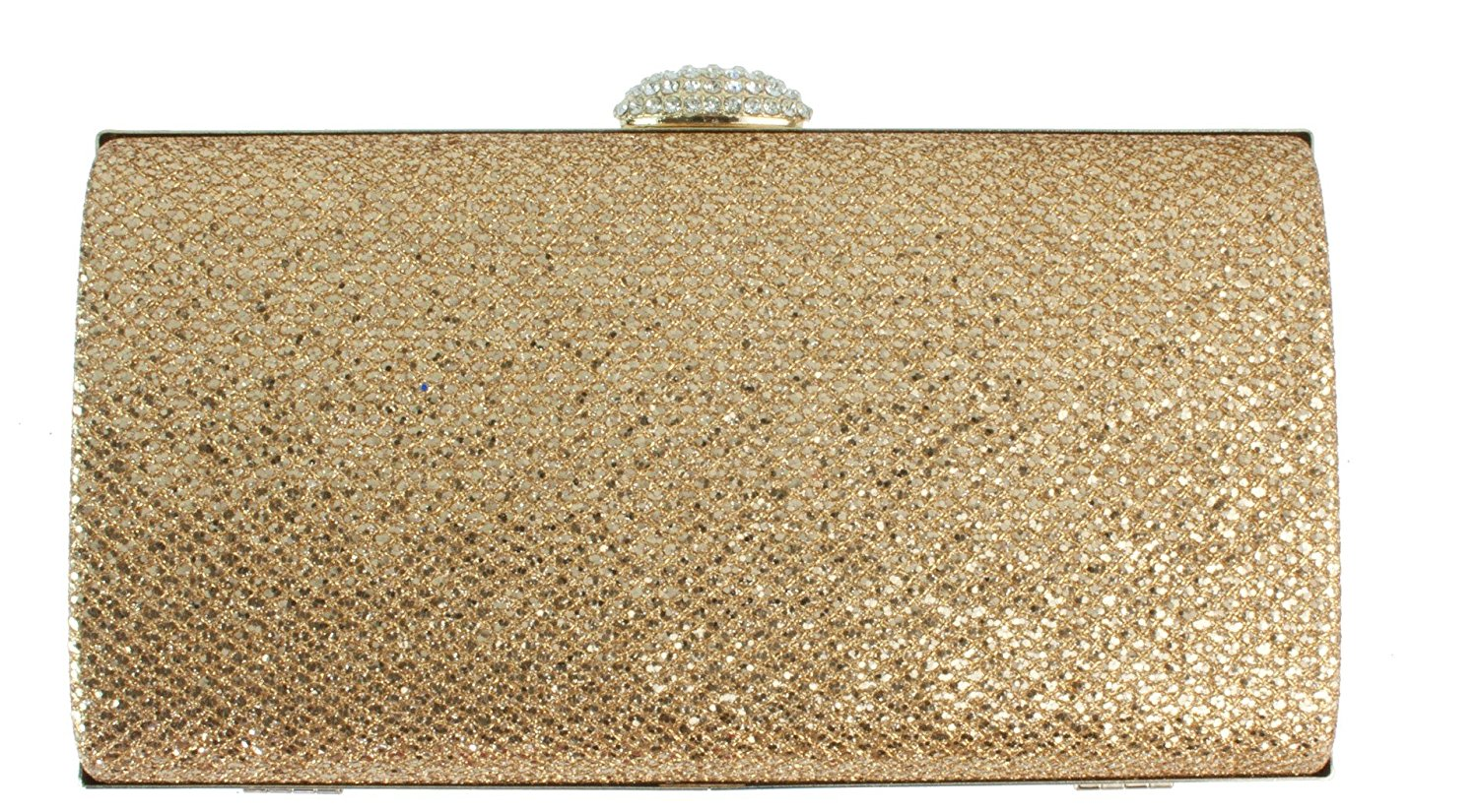 Girly HandBags Women's Glitter Hard Case Box Clutch Bag