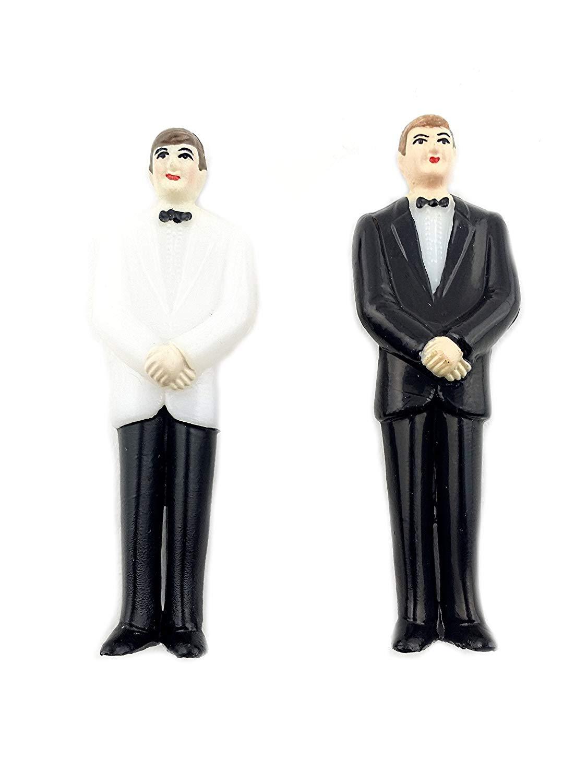Brilliant phrase interracial bobble head wedding toppers