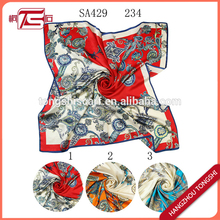 100 % Real silk satin scarves women printed scarf wholesale china