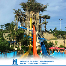 indoor single water slide water park equipment for sale