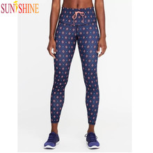 Custom Breathable Athletic Leggings Drawstring Printed Sublimation Yoga Pants Hot sex Images