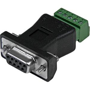 """Startech.Com Rs422 Rs485 Serial Db9 To Terminal Block Adapter - Serial Adapter - Db-9 (F) - 5 Pin Terminal Block - Black - For P/N: Pci2s232485i """"Product Type: Supplies & Accessories/Network Cabling Accessories"""""""